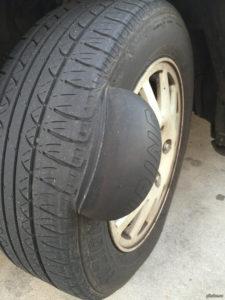 Ремонт грыжи на шине