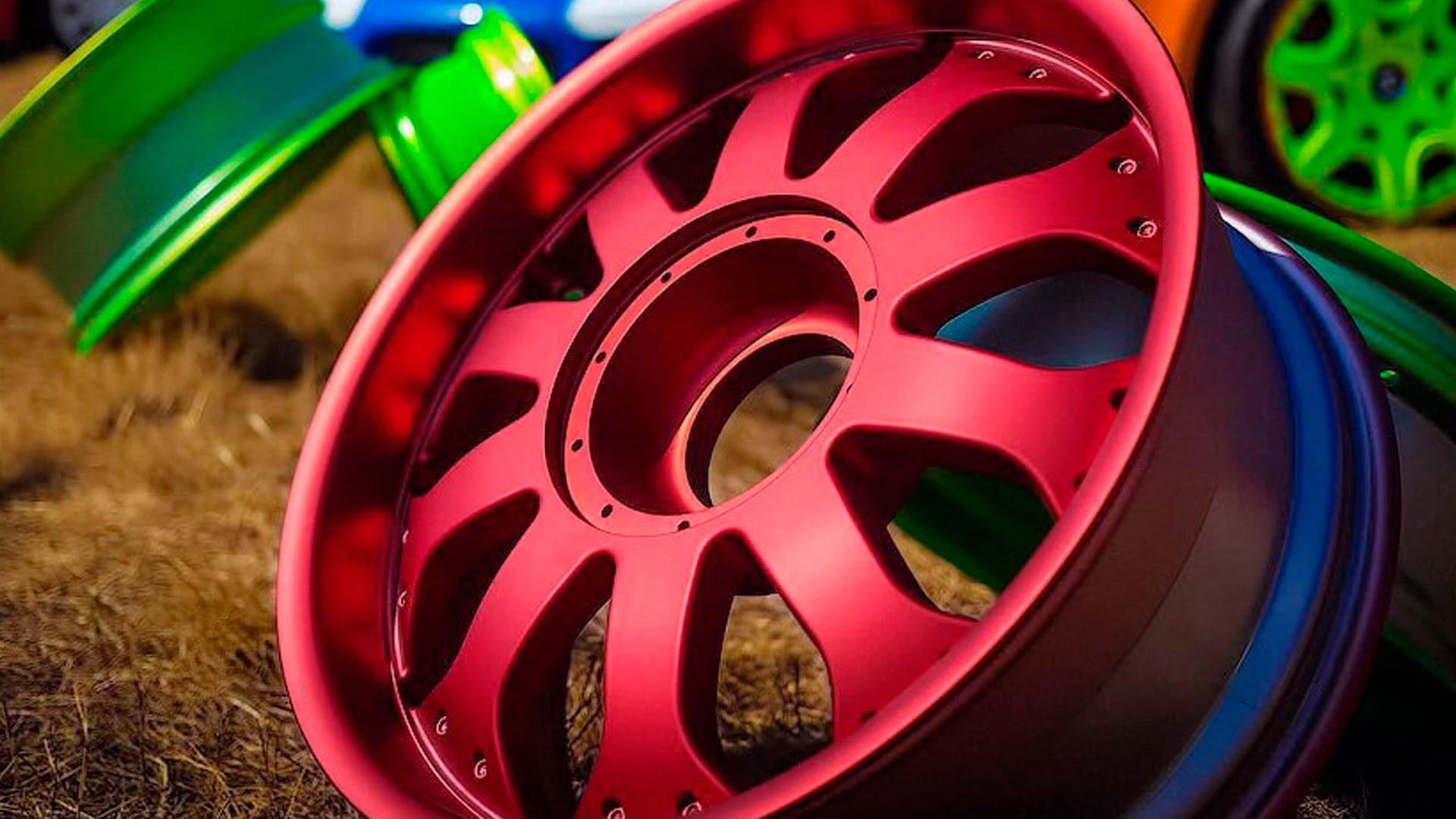 Как покрасить литые диски своими руками не снимая резину